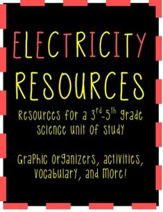 Beginning an Electricity Science unit? Look no further! Here is everything you need for a 3rd-6th grade unit.