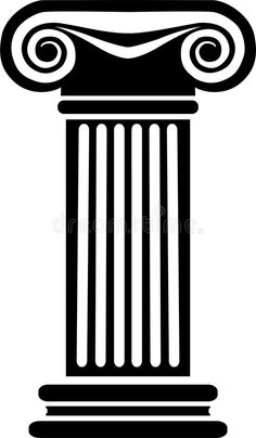 Illustration about Stylized black and white illustration of a classic Greek/Ionic architectural column. Greek Party Decorations, Saree Painting Designs, Greek Crafts, Greek Symbol, Foto Gif, Roman Columns, Ancient Greek Art, Greek Design, Black And White Illustration