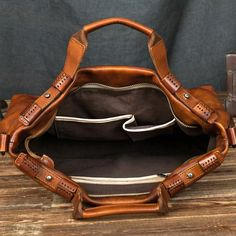 82dfcac4e1 Handcrafted Vintage Genuine Full-gain Leather Briefcase Handbag Men s  Laptop Bag Crossbody Bag 246 -