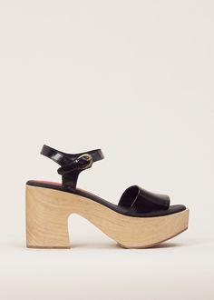 Rachel Comey Black Satinado Pearce Platform Sandal