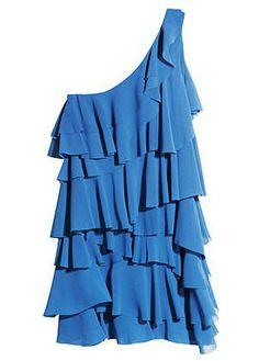 Vestido Azul One Shoulder