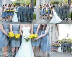 my gray and yellow wedding