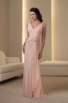 Shop 2012 Collecti Vintage Pink Sheath Column V Neck Floor Length PJQALP9N Online affordable for each occasion. Latest design party dresses and gowns on sale for fashion women and girls.