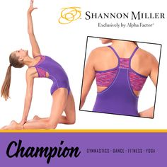 """This leotard, called """"Champion"""" will definitely make you feel like one! The details are stunning and the comfort-level is a perfect 10! And even better, it's only $44.99!"""