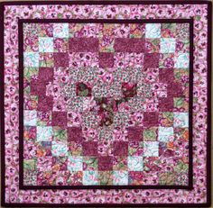 Quilted Valentine Heart Table Topper Candle Mat