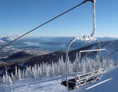 Schweitzer Mountain and Ski Resort,  northwest of Sandpoint (north).   Located in the Selkirk Mountains, it overlooks Lake Pend Oreille to the southeast with views of the Bitterroot and Cabinet mountain ranges.