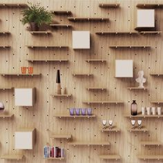 NOMINO WALL customizable shelving system