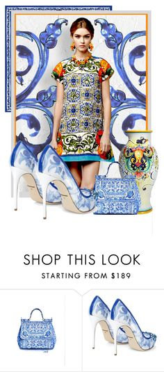 """Majolica Blue"" by patrizia-brasil ❤ liked on Polyvore featuring Dolce&Gabbana"