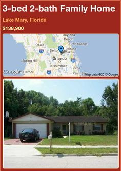 3-bed 2-bath Family Home in Lake Mary, Florida ►$138,900 #PropertyForSale #RealEstate #Florida http://florida-magic.com/properties/19493-family-home-for-sale-in-lake-mary-florida-with-3-bedroom-2-bathroom