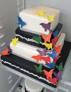 Purppurahelmi: Sateenkaariperhoskakku Cake, Desserts, Food, Tailgate Desserts, Deserts, Mudpie, Meals, Dessert, Yemek