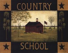 Country School Art Print by Dotty Chase