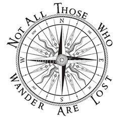 Afbeeldingsresultaat voor tatoeage not all those who wander