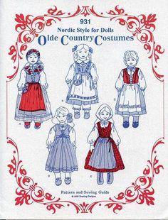 Scandinavian Swedish Doll Costume Pattern www.giftchaletauburn.com