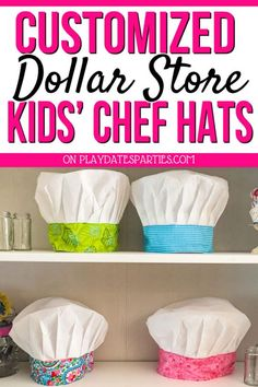 How to Make the Most Adorable Kids Chef Hat Easy Crafts craft apron for kids diy - Kids Crafts Baking Birthday Parties, Baking Party, Kids Cooking Party, Fun Cooking, Couple Cooking, Cooking Chef, Cooking Games, Cooking School, Cooking Videos