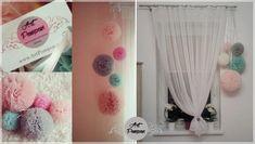 Pompony tiulowe - Art Pompon: Pompony do dekoracji pokoi dziecięcych, pompony tiulowe, dekoracje wnętrz pomponami z tiulu, ArtPompon, pompony Świdnica