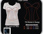 Corset Rhinestone Designs