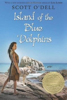 Island of the Blue Dolphins -- a young native American girl survives alone on a desolate island.  I read this as a young girl!