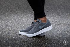 Nike Air Force 1 Ultra Flyknit Low Dark Grey/White - 817419-007