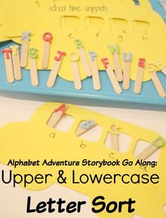 School Time Snippets: Alphabet Adventure Storybook Go Along- Letter Sorting. Perfect for Back to School time! Pinned by SOS Inc. Resources. Follow all our boards at pinterest.com/sostherapy/ for therapy resources.