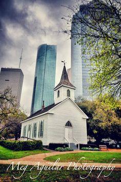 St John's Church in Sam Houston Park in Houston, TX