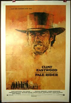 old movie posters wallpaper | PALE RIDER – Clint Eastwood western poster on Linen