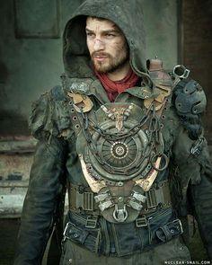 wasteland LARP for men / cosplay / post apocalyptic Apocalyptic Clothing, Post Apocalyptic Costume, Post Apocalyptic Fashion, Steampunk Men, Steampunk Fashion, Steampunk Clothing, Gothic Fashion, Gothic Horror, Larp