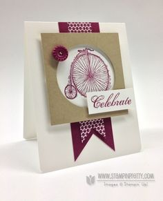 SU! Feeling Sentimental stamp set; Sycamore Street DSP; colors are Rich Razzleberry, Crumb Cake and Whisper White - Mary Fish