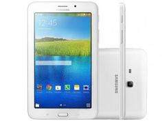 """Tablet Samsung Galaxy E 8GB Tela 7"""" Wi-Fi - Android 4.4 Quad-Core Câm. 2MP + Frontal 2MP GPS Em Promoção Aproveite No Magazinevoce/Bentivievoce"""