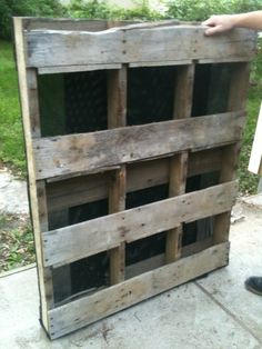 Pallet gardening; great directions and so easy to follow with photo step by step!! So ready to do this, I have a hammer, saw, and pallet, just need the gardening fabric and dirt and of course, plants!!
