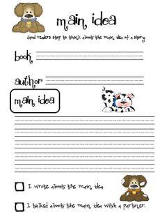 Main Idea - FREE Printable