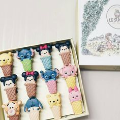 Tsum tsum ice cream macarons