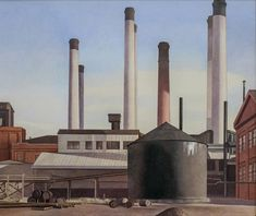 Details about Fugue : Charles Sheeler : circa 1940 : Industrial Art
