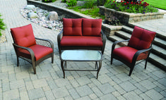 menards patio chairs for one cent countertop height folding 14 best images arredamento backyard creations home furnishings orchard valley deep seating set at reg
