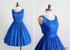 Vintage 1960s Dress  50s 60s Full Skirt Sundress by RaleighVintage, $92.00