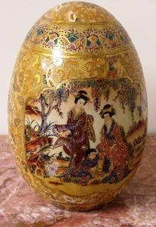 Japanese__SATSUMA pottery egg