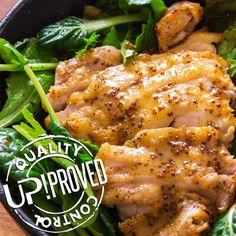 La ricetta di UP!: Pollo alla griglia con salsa di senape all'antica e miele di fiori