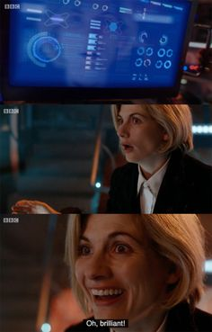 "Okay am I the only one who noticed they where playing old themes from different doctors throughout this episode? For example, in this ""oh brilliant"" scene, the bad wolf theme was playing, and earlier in the episode when they were showing the 1st Doctor his future lives the 11th doctor's theme was playing. I got so emotional at that point when I heard it because 11 is my favorite therefore that theme is my favorite and I got so sad/giddy when I heard it because I was remembering all the good…"