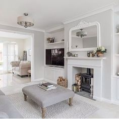 One of the pics from the estate agents of our house - I loved this angle of our living room leading into the kitchen. Lounge Decor, Lounge Design, Sitting Room Decor, Living Room Decor Cozy, Living Room Grey, Living Room Interior, Home Living Room, Living Room Designs, Living Room With Stove