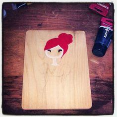 work in progress. first time painting on wood :)