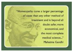 Homeopathy.... all good..comes from one source.... THE TRUE GOD!