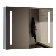"48"" W x 26"" H Rectangular Frameless Wall Mounted Medicine Cabinet with LED Lighting"