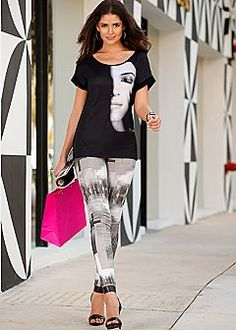 Women's Pants - High Waisted Pants, Capris, Leggings by VENUS. This whole outfit is perfect <3