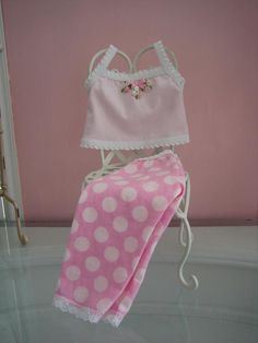 P.J.s  made to fit 18 inch American Girl doll pink by MenaBella