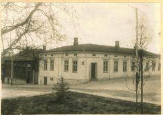 Kuopio 1902. Minna Canthin talo, Kanttila, Kuninkaankatu 15. Kuvattu Kirkkopuiston kulmalta.