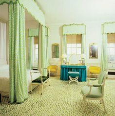 Lambrequins and intricate valences were a signature of legendary interior designer David Hicks.