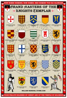 Knights Templar Grand Masters poster from williammarshalstore.com
