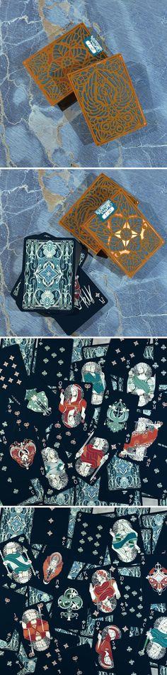 Nouveau PERLE du Cuivre - handmade tuck - playing cards art, game, playing cards collection, playing cards project, cards collectors, design, illustration, card game, game, cards, cardist, cardistry