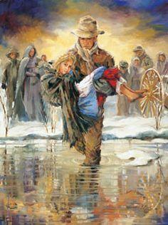 mormon pioneer handcarts | Greater Love (Sone Needed Carrying)
