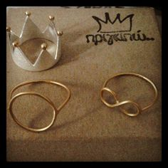 My favorite rings by Πριγκιπώ  http://www.facebook.com/Prigkipw