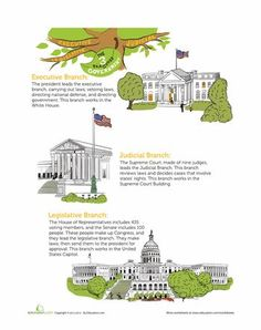 Printables Branches Of Government Worksheets branches of government and worksheets on pinterest the three government